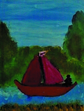 Sailing Down the River on a Sunday Afternoon by Jane D