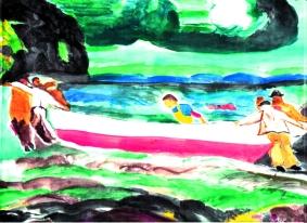 Sea Drama by Jane B